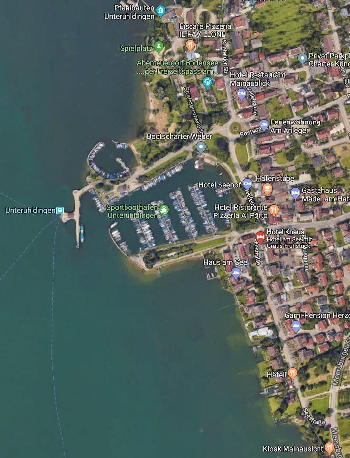 Unteruhldingen Bodensee Promenade Hafen
