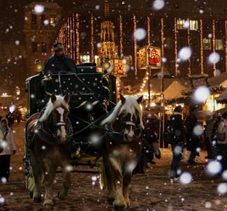 Weihnachtsmarkt Kutsche
